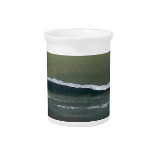 Magicka Ocean Olive Green Moody Beach Pitcher