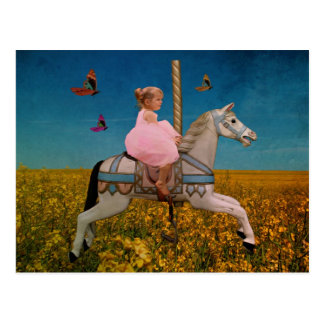 magickal carousel ride postcard