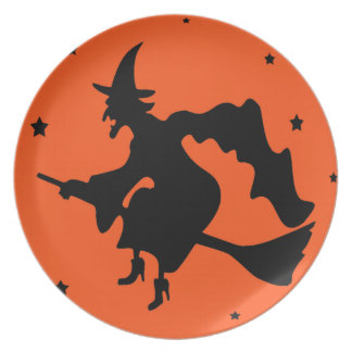 Magickal Halloween Witch Plate