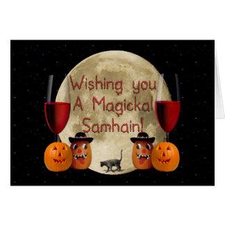 Magickal Samhain Greeting Card