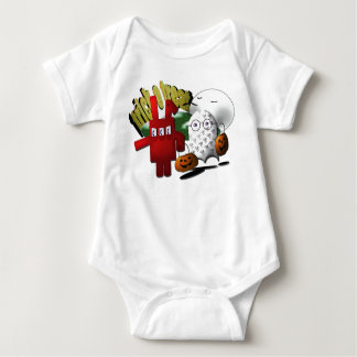 magiicbox red rabbit baby bodysuit
