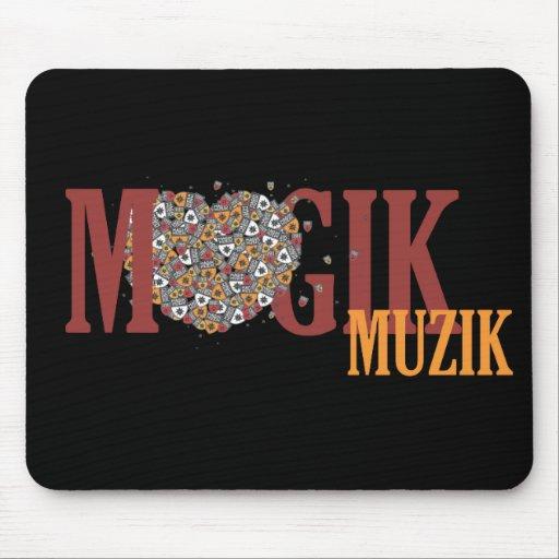 Magik Muzik Love it  Mousepad