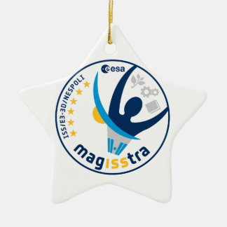 MagISStra Mission to the ISS Double-Sided Star Ceramic Christmas Ornament
