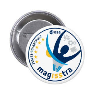 MagISStra Mission to the ISS Pinback Button
