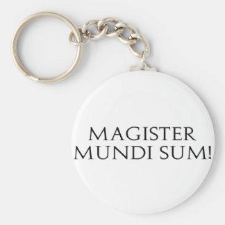 Magister Mundi Sum Keychain