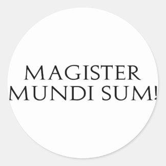 Magister Mundi Sum! Stickers