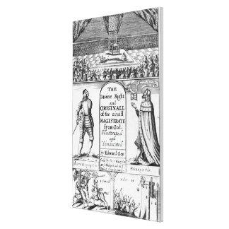 Magistrado civil original del derecho divino de impresión en lienzo