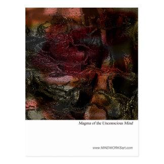 Magma de la mente inconsciente tarjeta postal