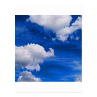 Magma del azul de cielo postal