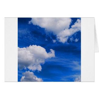Magma del azul de cielo tarjeta de felicitación