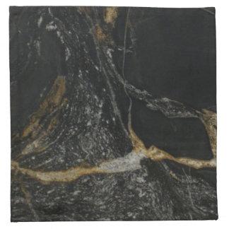 """magma gold granite"" Cocktail Napkins - SET"