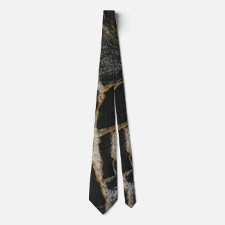 """""""Magma Gold"""" granite-look DOUBLE SIDED NECKTIE"""