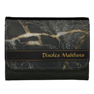 """Magma Gold """"granite look"""" PERSONALIZED WALLET"""
