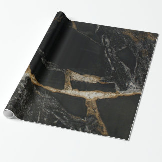 """magma gold"" granite-look WRAPPING PAPER"