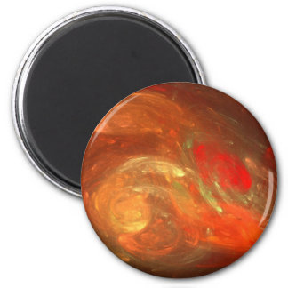 Magma Storm 2 Inch Round Magnet