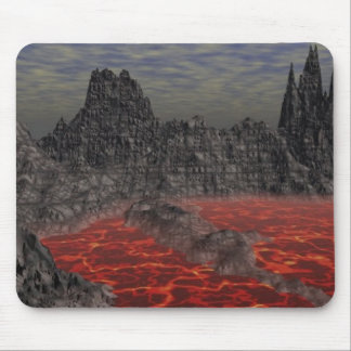Magma Volcano Mouse Pad