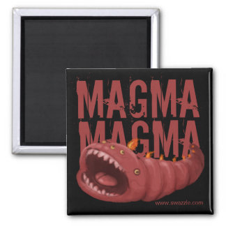 Magma Worm Square Magnet