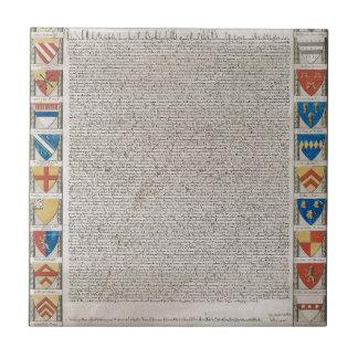 Magna Carta #2 Ceramic Tile