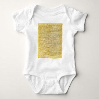 Magna Carta text Baby Bodysuit