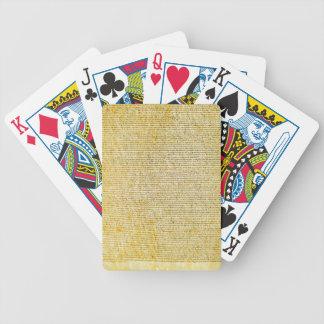 Magna Carta text Bicycle Playing Cards