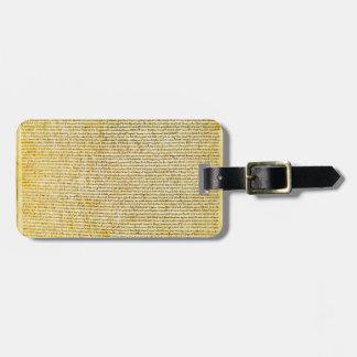 Magna Carta text Luggage Tag