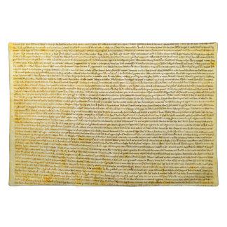 Magna Carta text Cloth Placemat