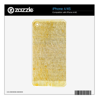 Magna Carta text Skins For iPhone 4