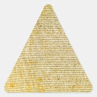 Magna Carta text Triangle Sticker