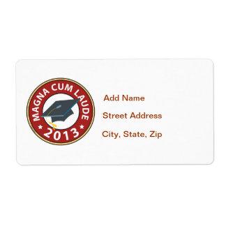Magna Cum Laude Shipping Label