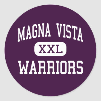 Magna Vista - Warriors - High - Ridgeway Virginia Classic Round Sticker
