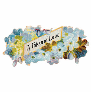 """MAGNET """"A TOKEN OF LOVE"""" - CUTOUT - VALENTINES DAY"""