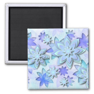Magnet abstract lotus flowers