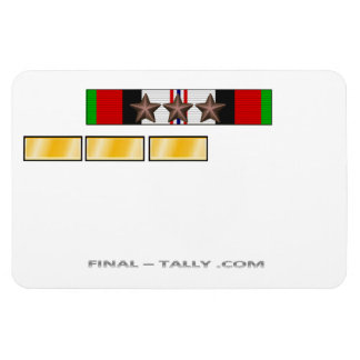 Magnet Afghanistan Deployment Time 3 Campaign Star