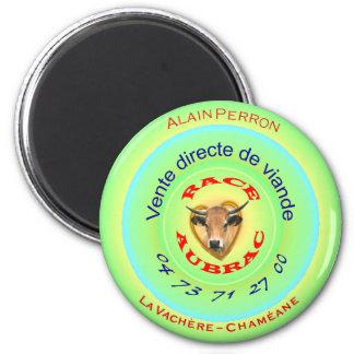 Magnet Alain PERRON, 5.7 cm diameter,