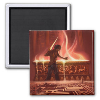 magnet_Battle of the Labyrinth 2 Inch Square Magnet