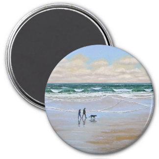 Magnet ~ Beach Dog Walk