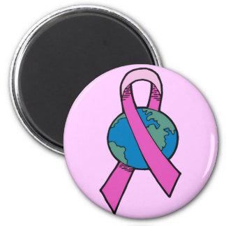 Magnet - Breast Cancer World Ribbon