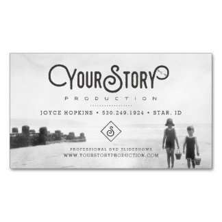 MAGNET BUSINESS CARD | Old Vintage Kids Photo