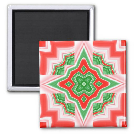 Magnet- Christmas Star 2 Inch Square Magnet