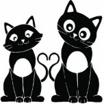 """Magnet """"Couple of cats """" Photo Sculptures"""