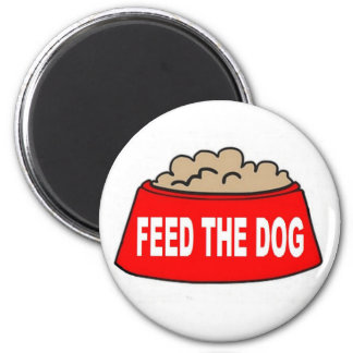 Magnet Dog Food Bowl Red Feed The Dog