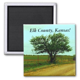 Magnet:  Elk County, Kansas! 2 Inch Square Magnet