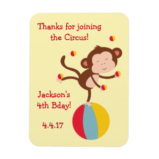 Magnet Favor in Circus Theme for Birthday