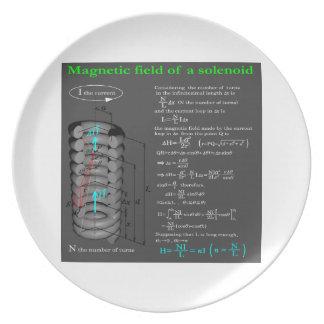Magnet field of solenoid dinner plate