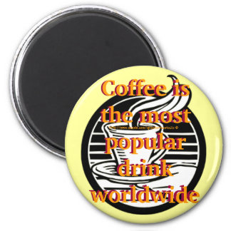 """""""Magnet for Coffee folks nutty about beans"""" 2 Inch Round Magnet"""