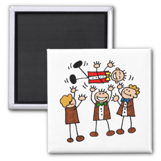 Magnet: Fun with the Boys l 2 Inch Square Magnet