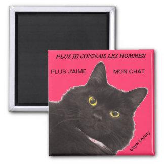 magnet gato imán cuadrado