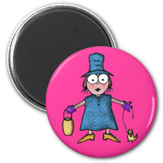 "MAGNET""girl"" 2 Inch Round Magnet"