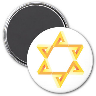 magnet, gold star, david star 3 inch round magnet
