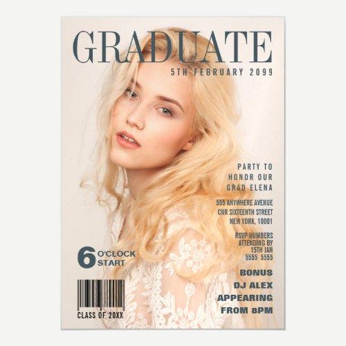 MAGNET Graduation Magazine Cover Party Invite